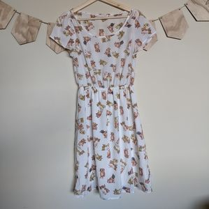 Peaches and Cream Cat and Yarn Dress Modcloth M
